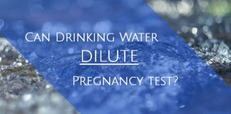 Can drinking water dilute pregnancy test?