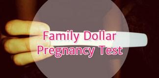Family Dollar Pregnancy Test