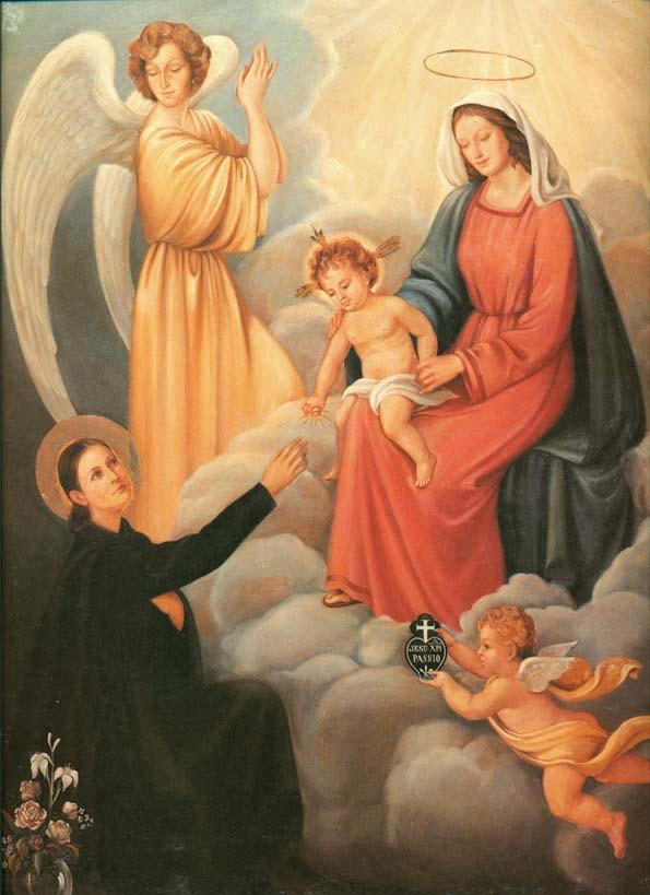 Resultado de imagen para santa Gema Galgani y el niño jesus en navidad