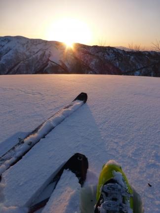 朝山スキー 白谷山