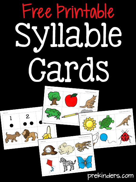 Printable Syllable Cards for Literacy Activities