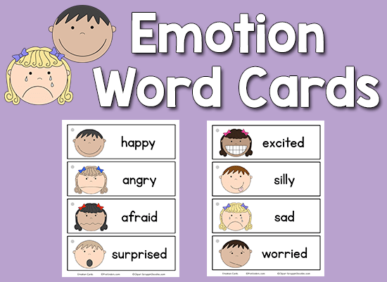 Emotion Word Cards - PreKinders