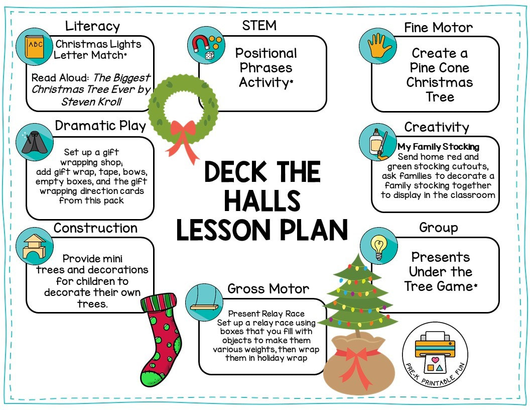 Christmas Lesson Planning Page
