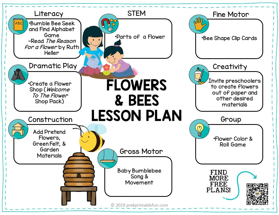 Preschool Flowers And Bees Theme
