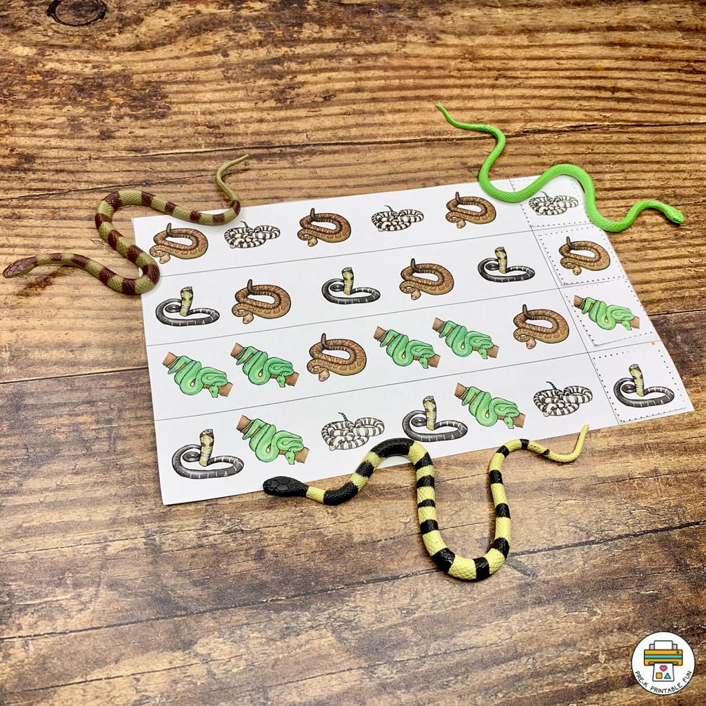 Snakes Preschool Activities Pack