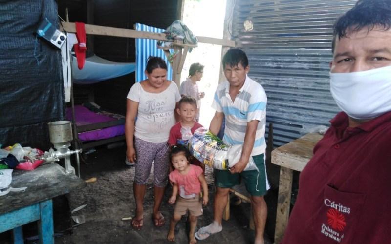 Cáritas brinda apoyo alimentario a familias vulnerables por Covid-19