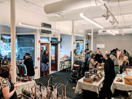 We opened our doors to Gather Here's annual Holiday Market.