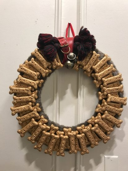 A creative holiday wreath by the interiors studio.