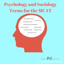 psychology, sociology, MCAT, terms