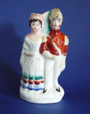 Miniature Victorian Staffordshire Pottery Figure Of The