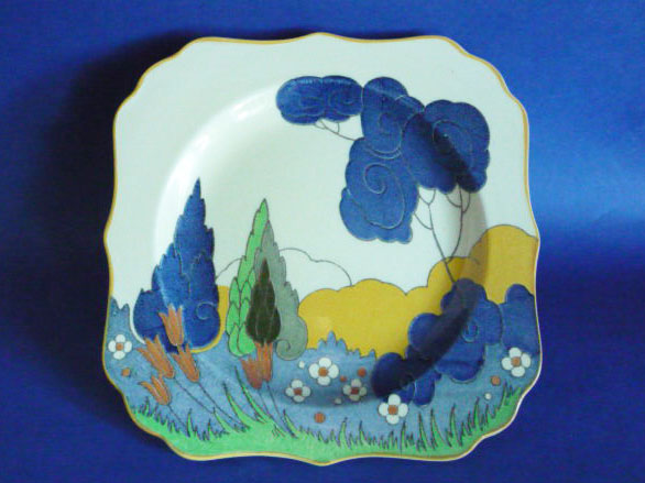 Royal Doulton Arcady Or Cypress Trees Pattern Art Deco
