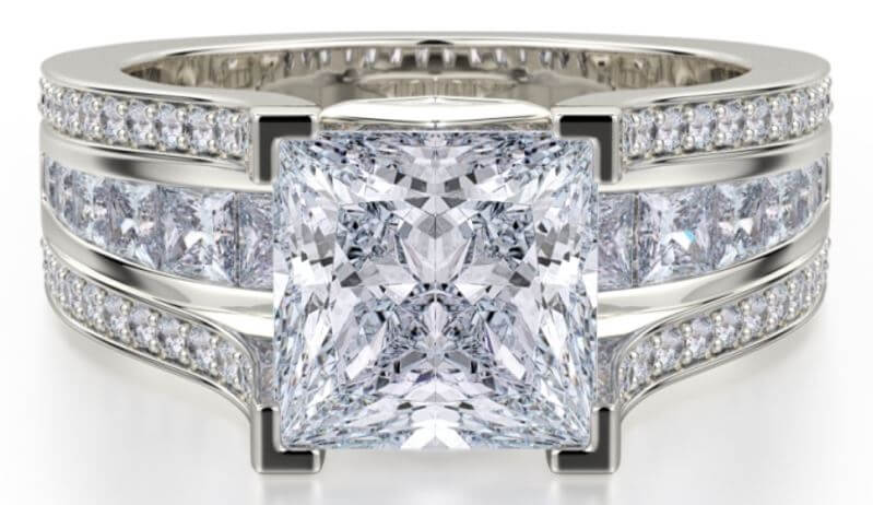Michael M Engagement Ring Princesse R465-2 Available at MichaelMCollection.com