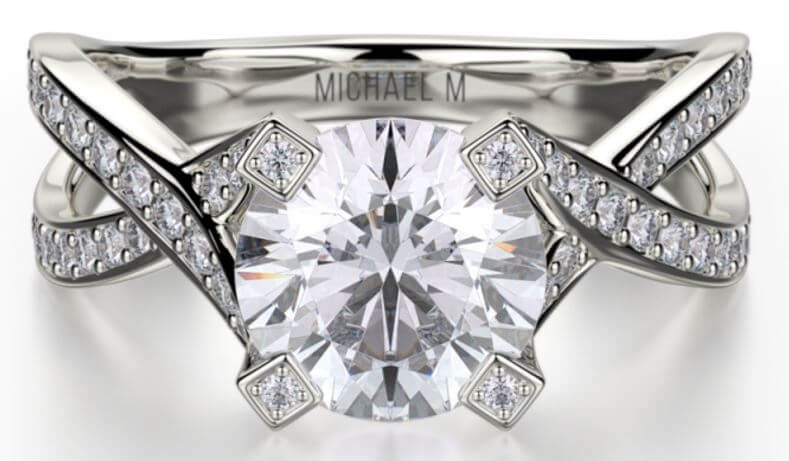 Michael M Engagement Ring Love R411-1 Available at MichaelMCollection.com