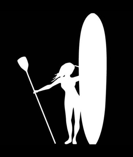 Windblown SUP Pose Vertical