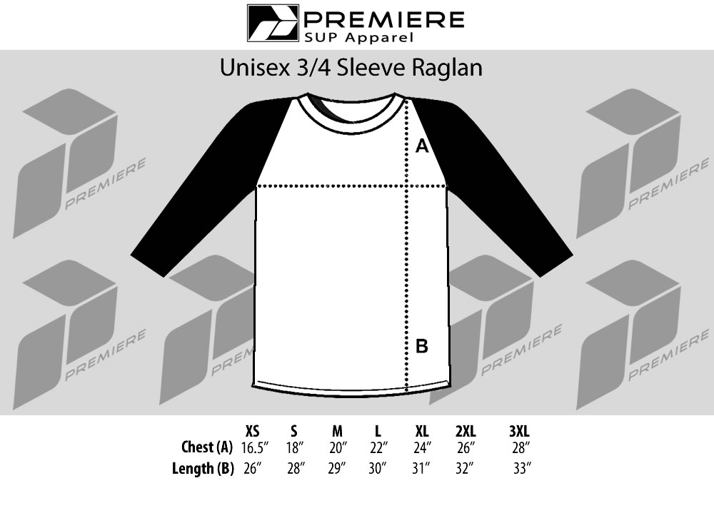 unisex-34-sleeve-raglan-size-chart-premiere-paddlesurf