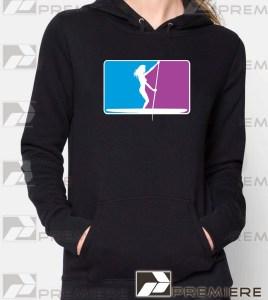 pro-logo-Womens-Black-sup-Hoodie