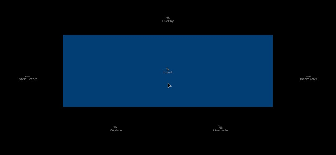 Editing su Monitor Programma (drag & drop)