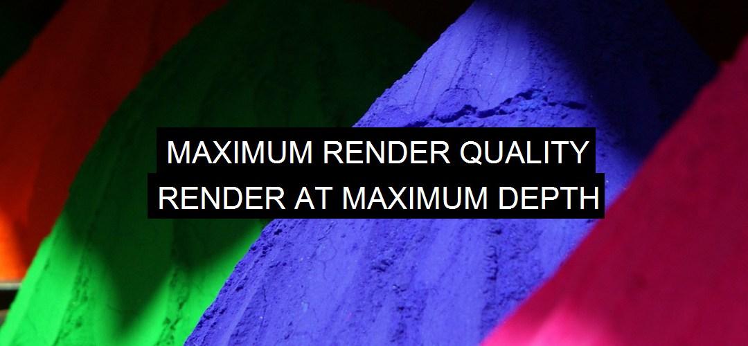 Esportazione: Massima qualità di rendering e Rendering alla profondità massima