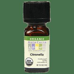 Aura Cacia Citronella Organic Essential Oil .25 oz A08287