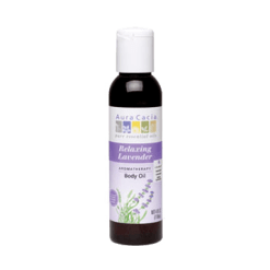 Aura Cacia Relaxing Lavender Body Oil 4 oz A86189
