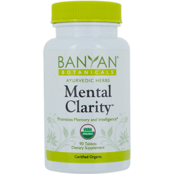 Banyan Botanicals Mental Clarity 500 mg 90 tabs MENT3