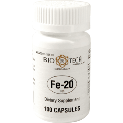 Bio Tech Fe 20 Ferrous Gluconate 20 mg 100 caps FERR2