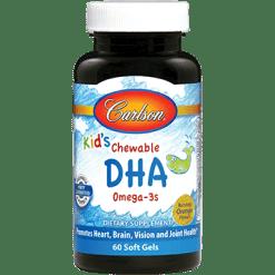 Carlson Labs Kids Chewable DHA Omega 3s 60 sofgels DHA12