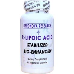 Geronova Research R Lipoic Acid 300 mg 60 vegetarian capsules KR300