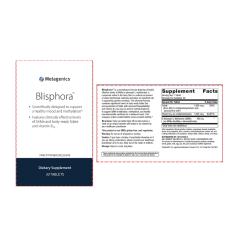 Metagenics Blisphora Label