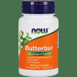 NOW Butterbur 75 mg 60 vegetarian capsules N4602