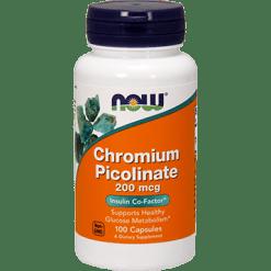 NOW Chromium Picolinate 200 mcg 100 caps N1420