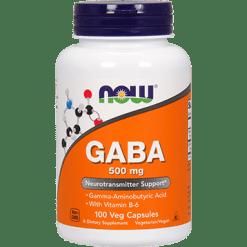NOW GABA 500 mg 100 caps N0087