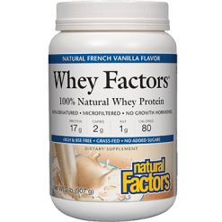 Natural Factors Whey Factors Powder Mix Vanilla 2 lbs NF2932