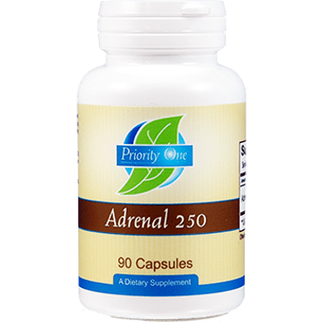 Priority One Vitamins Adrenal 250 mg 90 capsules ADR44