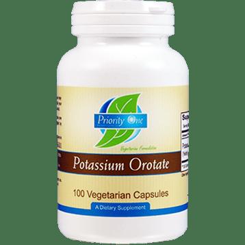 Priority One Vitamins Potassium Orotate 100 vegetarian capsules POT23