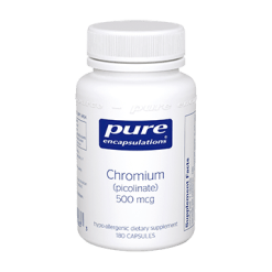 Pure Encapsulations Chromium picolinate 500 mcg 180 vcaps CHR21