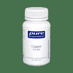Pure Encapsulations Copper citrate 60 vcaps COPP9