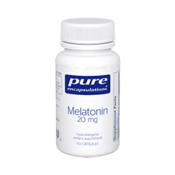 Pure Encapsulations Melatonin 20 mg 60 vcaps MEL43