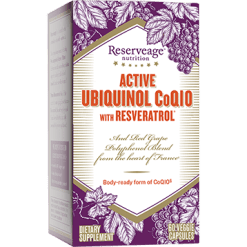 Reserveage Ubiquinol CoQ10 with Resveratrol 60 capsules R31819