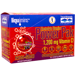 Trace Minerals Research Power PAK Pom Blueberry 30 packets T0347