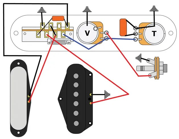 mod garage the bill lawrence 5way telecaster circuit