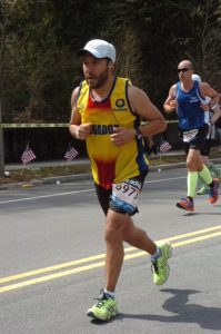 Dr. Mejia is an avid runner and is pictured in the 2013 Boston Marathon. He completed the race 40 minutes before the fatal bombing. He says the tragedy is a reminder of the importance of life and family.