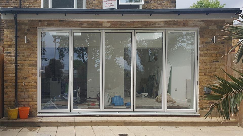 aluminium timber bifold doors