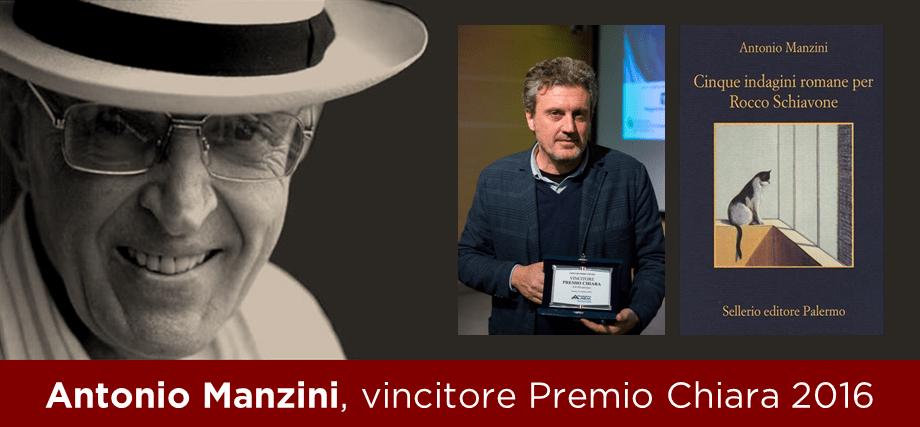 Antonio Manzini vince il Chiara 2016