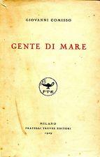 """La prima edizione d """"Gente di mare"""" (Treves, 1928)"""