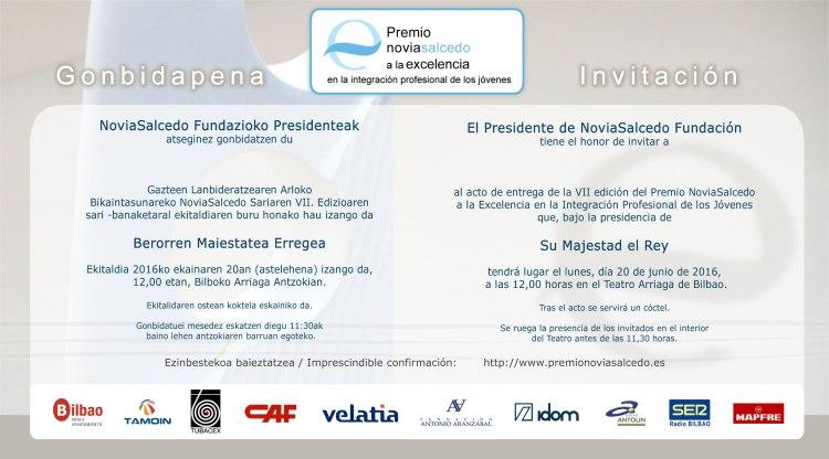 invitacion premio16R