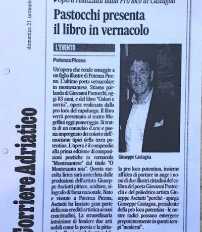 Pastocchi presenta il suo nuovo libro Colori e Sorrisi