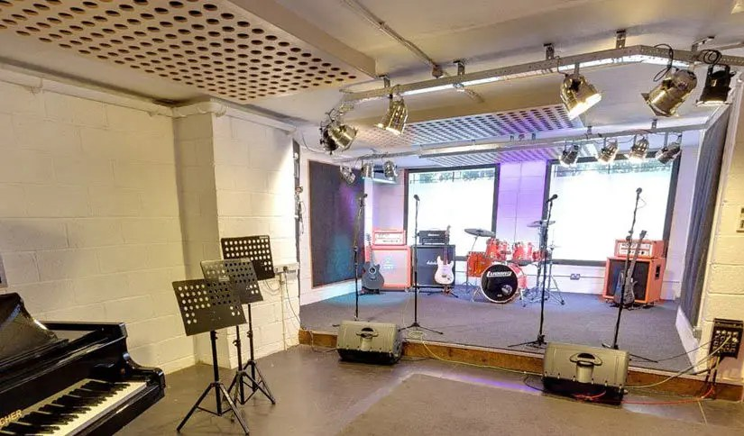 Photo of large music rehearsal studio in London