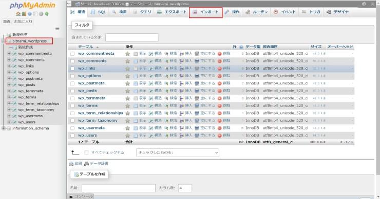wordpress-phpadmin-import