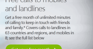Free calls to mobiles and landlines For One Month